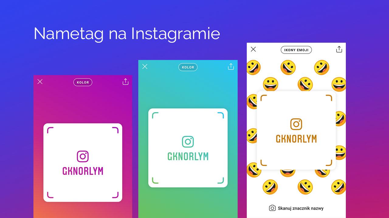 Instagram - jak stworzyć nametag?