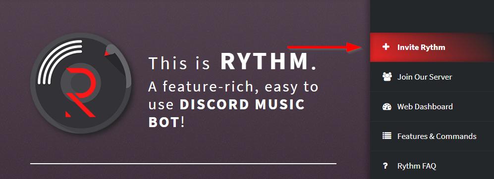 Dodaj bota muzycznego Rythm