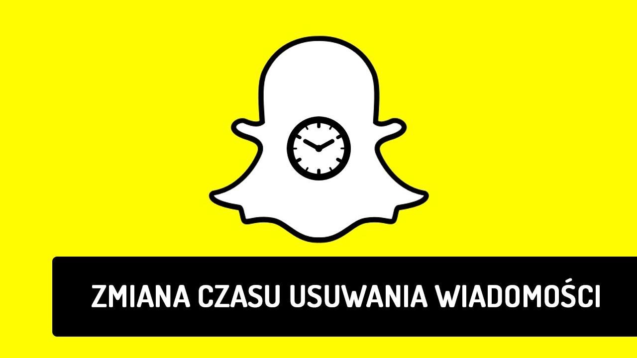 Snapchat - jak wybrać czas, po którym wiadomości są usuwane