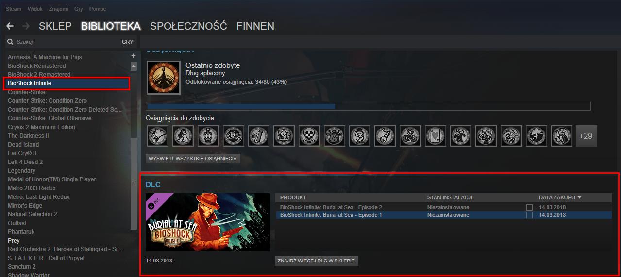 Steam - wejdź do szczegółów gry
