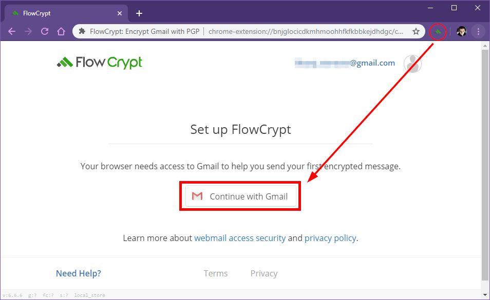 Połącz konto Gmail z FlowCrypt