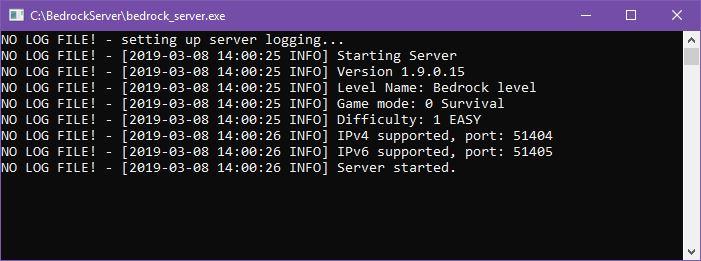 Uruchomiony serwer
