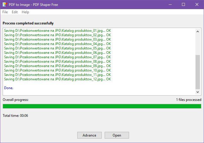 Proces konwersji PDF do JPG