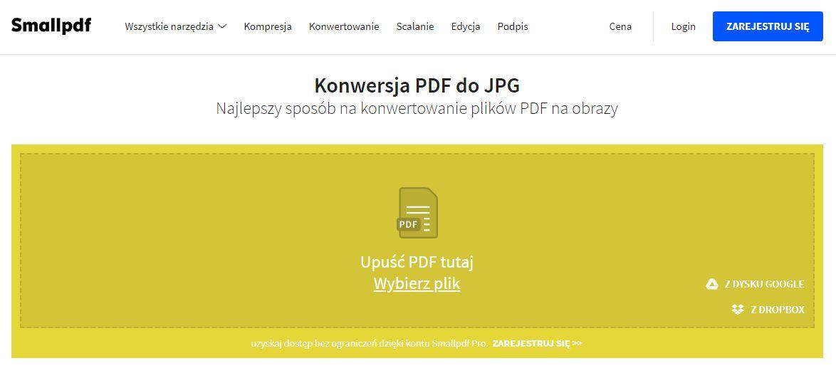 Wskaż plik PDF do konwersji