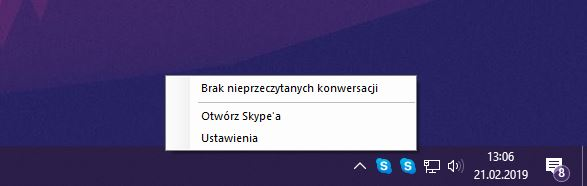 Skype - dwie ikony (klasyczny Skype i dla Windows 10)