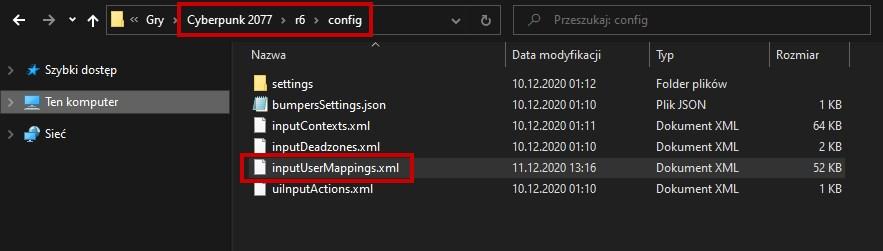 Znajdź plik inputUserMappings.xml