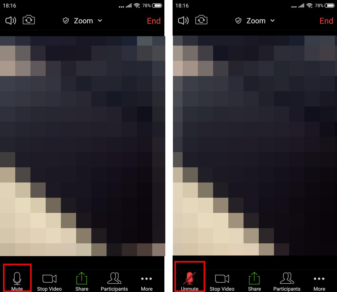 Wyciszanie mikrofonu w Zoom na Androidzie