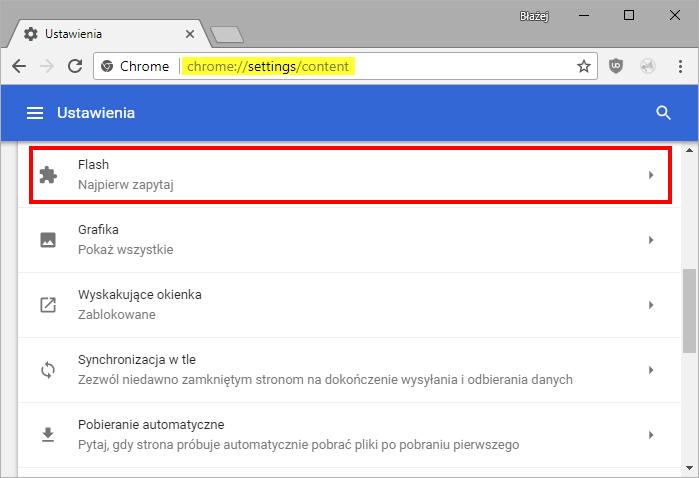 wtyczki flash google chrome