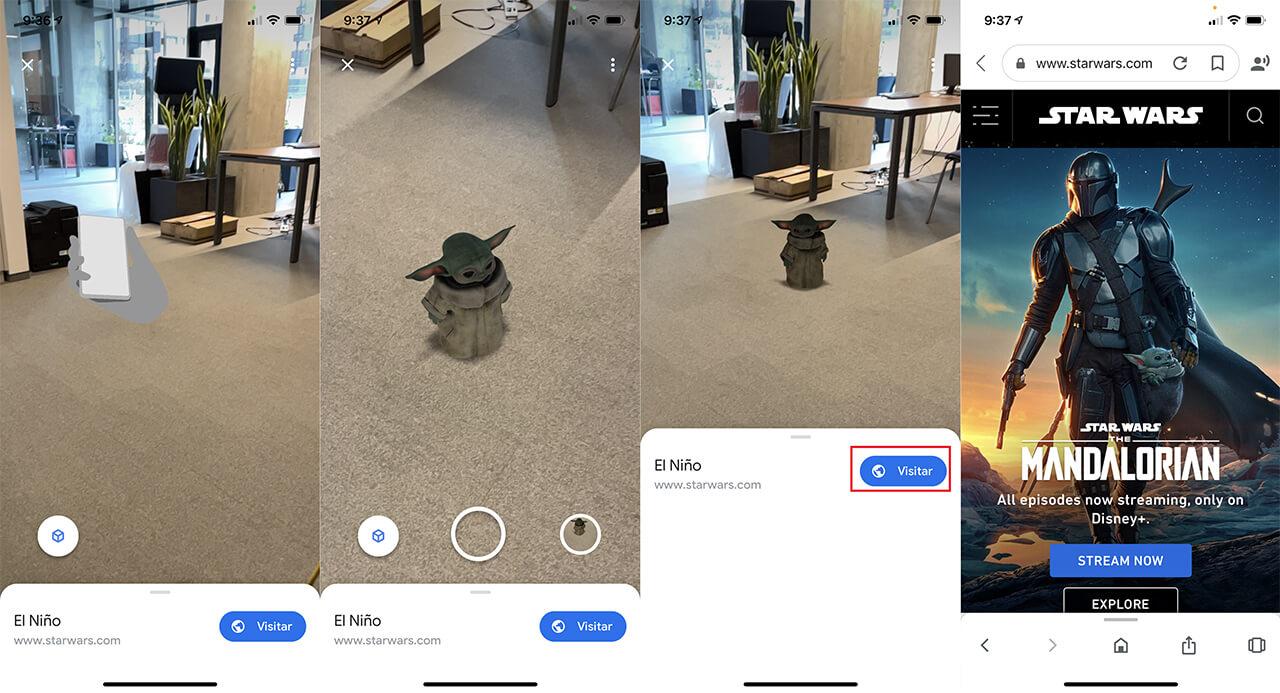 the mandalorian se une a google para ofrecer realidad virtual de  baby yoda