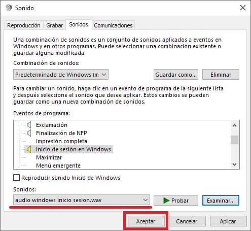 personalizar con tu cancion favorita el sonido de inicio de windows 10