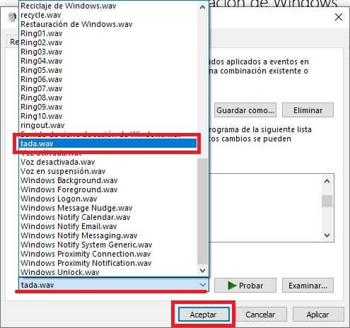 como personalizar el sonido de inicio de windows 10