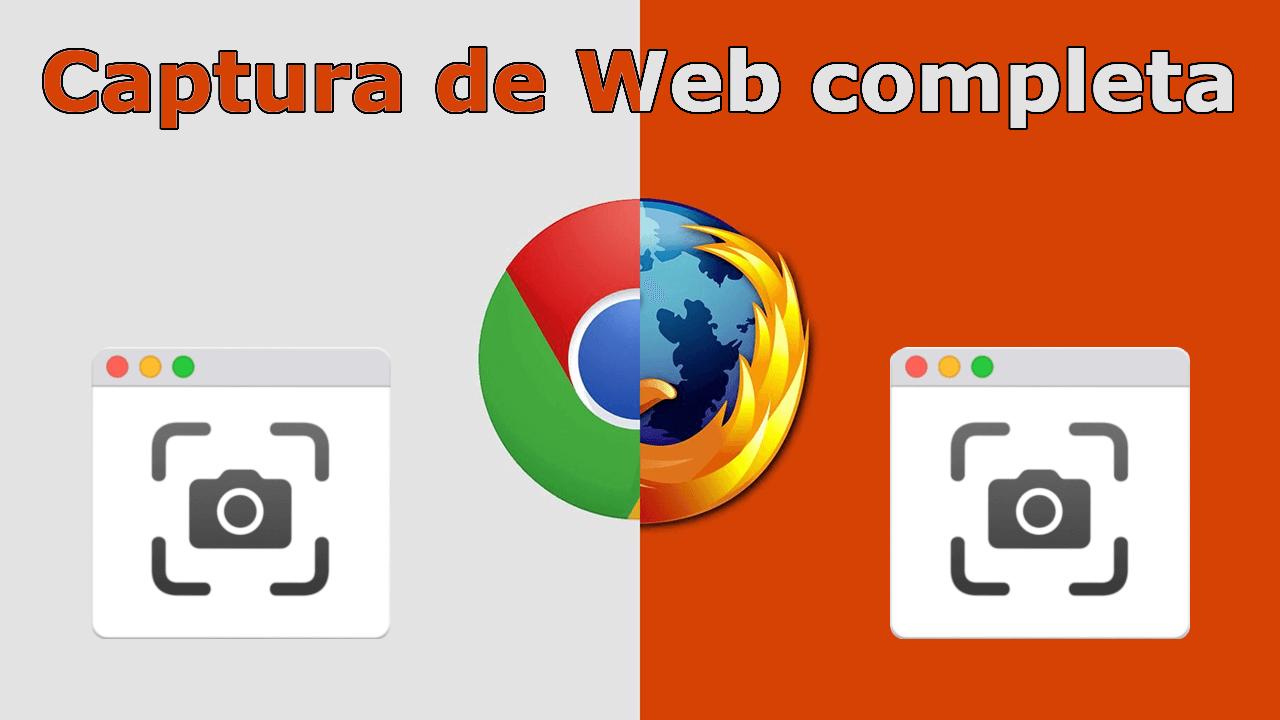 como tomar capturas de pantalla completas de una Web en el navegador Web chrome