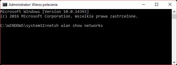 netsh wlan show networks