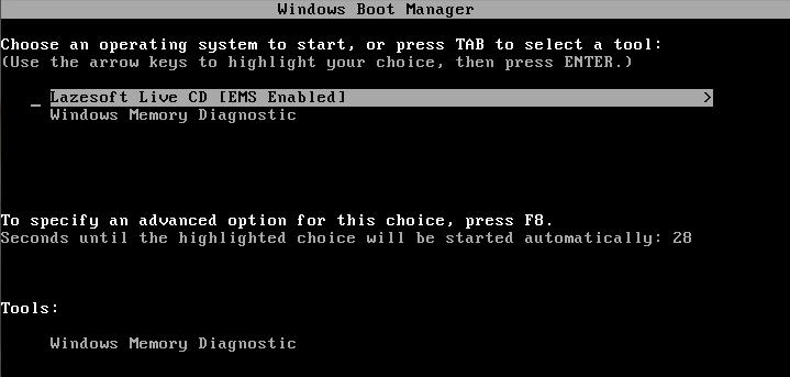 Bootowanie z Lazesoft Live CD