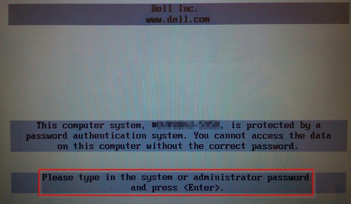 Podawanie hasła przy uruchomieniu komputera