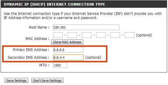 Ustawienie serwerów DNS na routerze